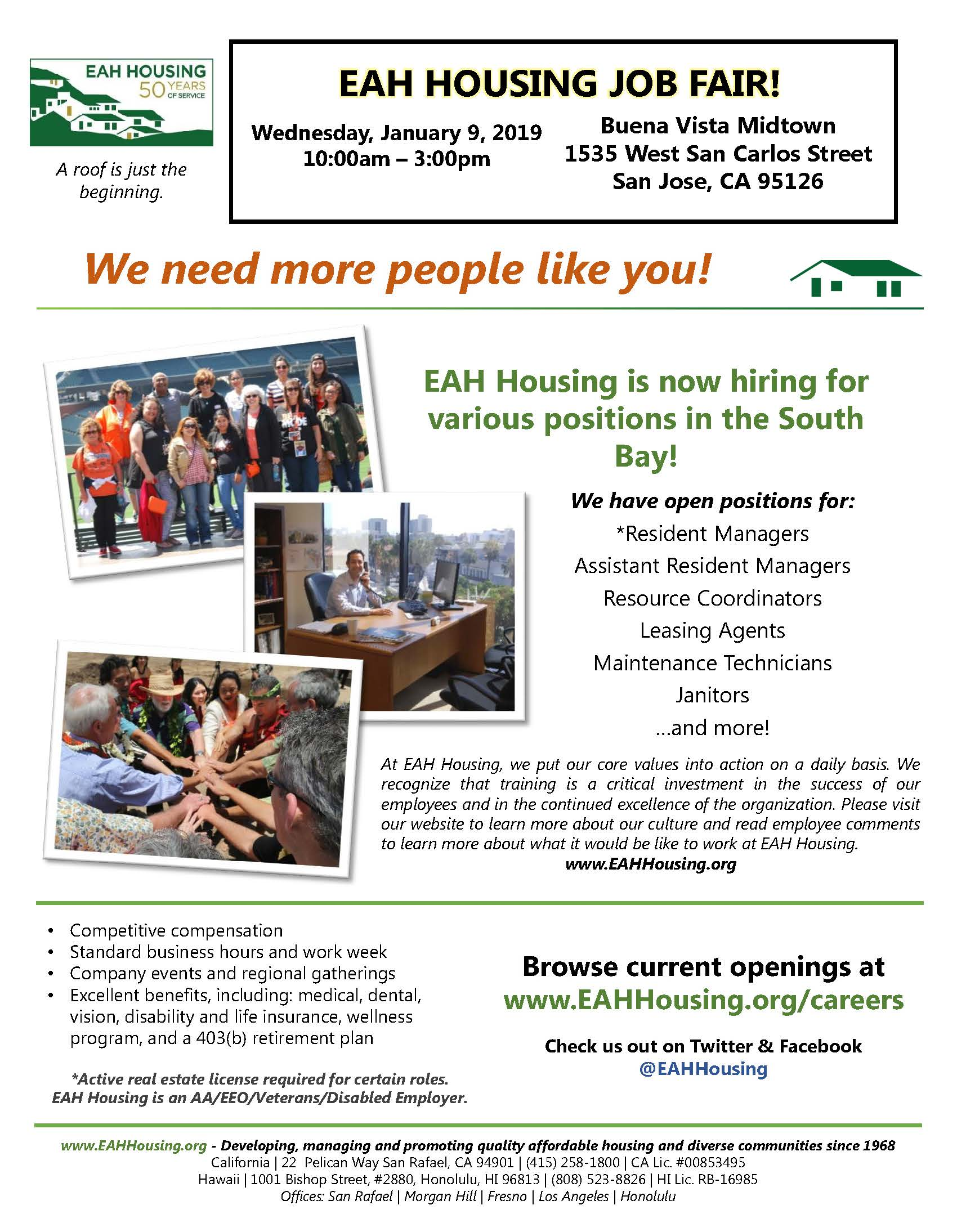 EAH Housing job fair 2019Jan
