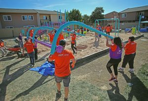 EAH Housing playground build Richmond, CA