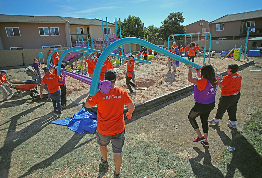 eahhousing volunteer Kaboom playground build